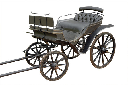 old coach isolated on white  clipping mask photo
