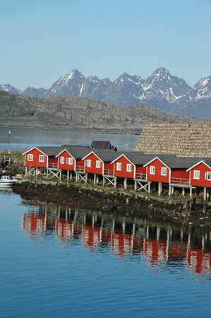 rental houses in Svolvaer, Lofoten, Norway photo