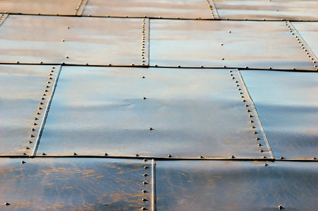 rooftiles: squared tin roof with screws