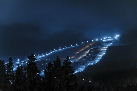 Dundret ski resort, Sweden Stock Photo