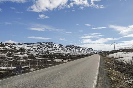 mountin: wasteland at mountin area in northen Sweden Stock Photo
