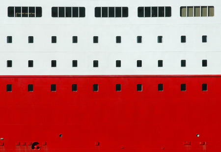 ship wall with windows Stock Photo