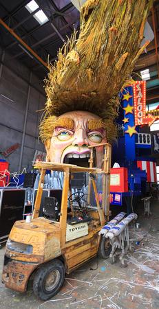 allegoric: Viareggio, February 2017:  Carnival allegoric cart with funny Donald Trump caricature, on February 2017 in Viareggio, Tuscany, Italy