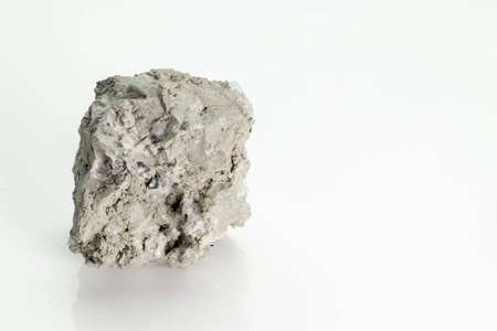 Pumice, (pumicite) is a volcanic rock  from Vesuvius volcano, isolated on a white background, Naples, Italy