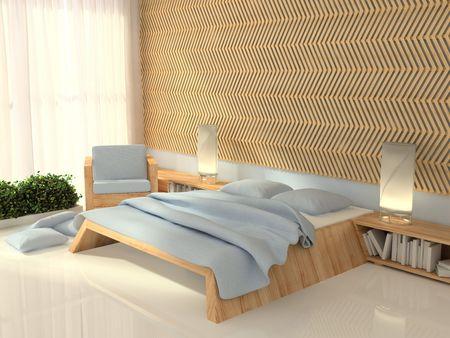 bedroom, 3d rendering Stock Photo - 8173796