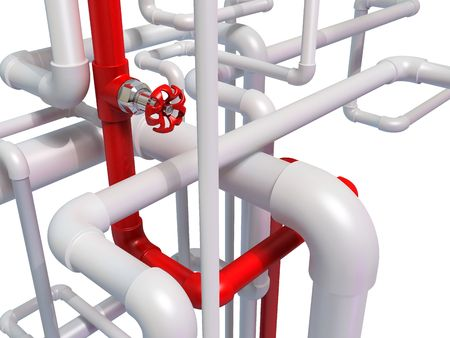pipe with hot water Stock Photo - 8173792