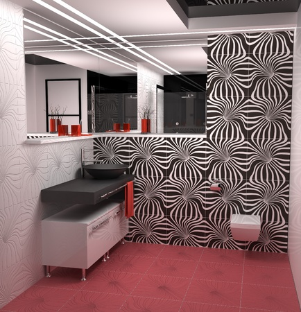 Nice bathroom in modern flat  photo