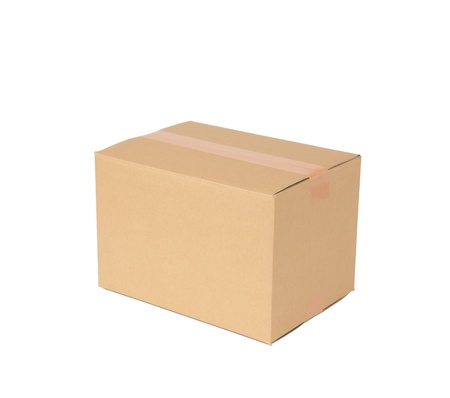 ship package: the cardboard box