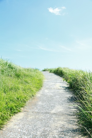 sloping: Footpath Stock Photo