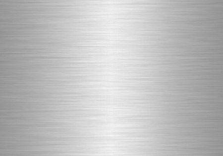 brushed aluminum: silver metal plate