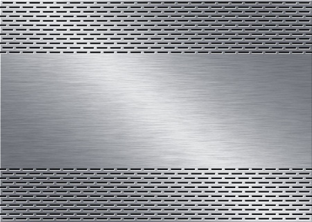 punched metal surface: metal background