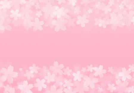 cherry blossom illustration: frame of cherry blossom petals