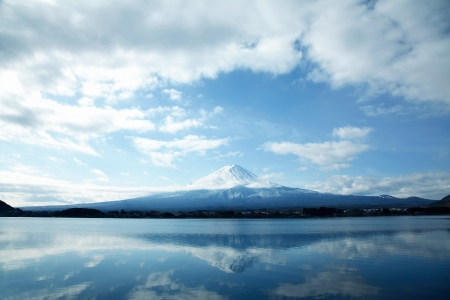 snow capped mountain: Mt  Fuji
