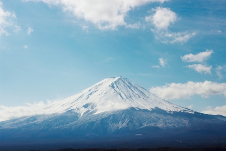 The highest Japanese mountain, Mt  fuji