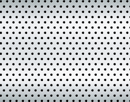 punched: perforated metal background