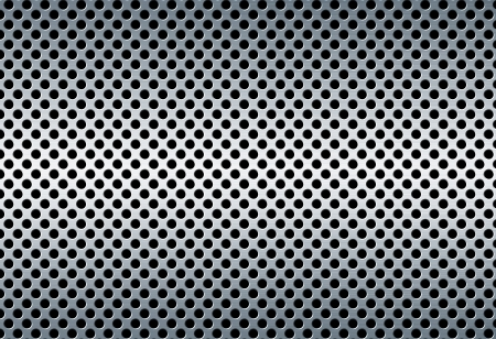 brushed aluminum: perforated metal background