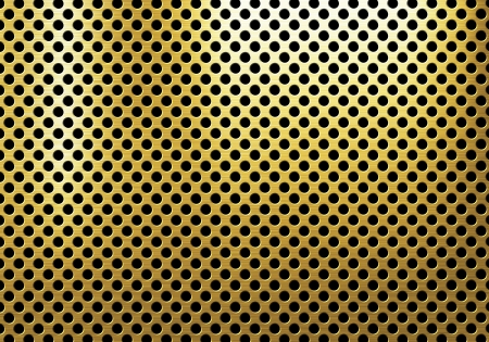 brushed gold: erforated metal background