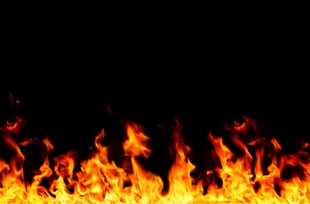 flame frame Stock Photo - 15813194