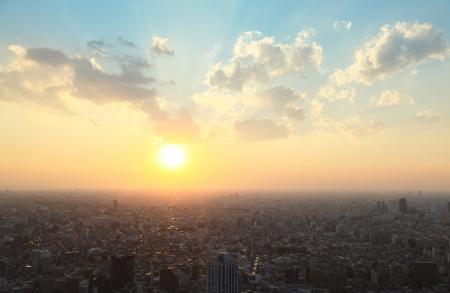 tokyo prefecture: Tokyo sunset