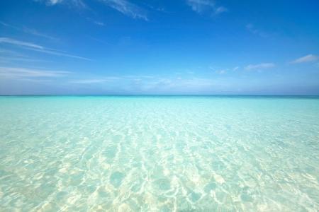 Japanese clean white beach in Okinawa prefecture photo