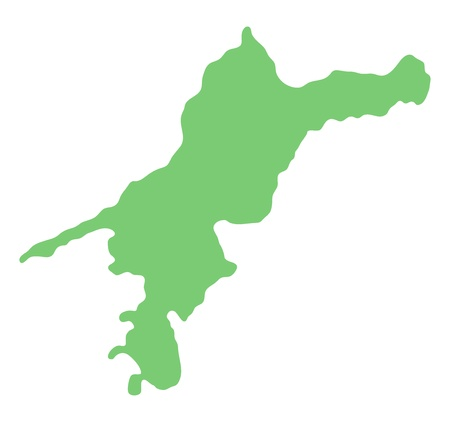 prefecture: map of Ehime prefecture, Japan