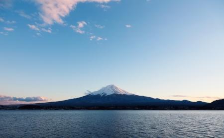 Mt Fuji at dusk Zdjęcie Seryjne