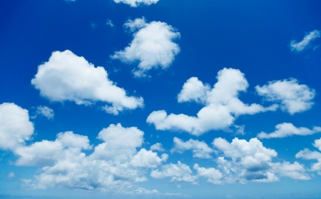 clean air: clear sky Stock Photo