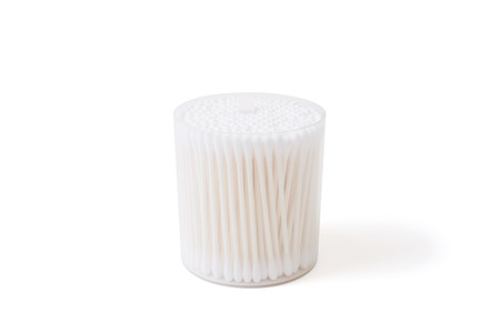 swab: Cotton buds in case Stock Photo