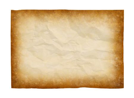 papel quemado: papel viejo