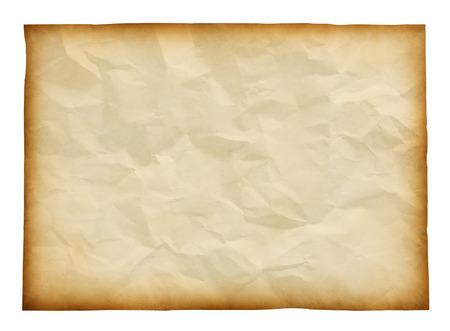 crinkled: old paper