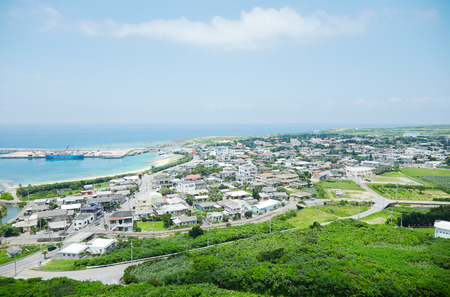 沖縄県与那国島で Tindahanata からの風景します。