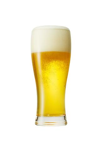 het bier geïsoleerd op wit