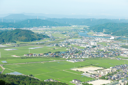 garden scenery: landscape of Karatsu city