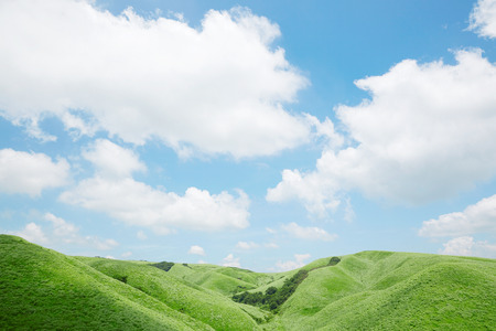 prefecture: landscape of Aso area in Japan Stock Photo