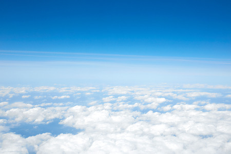 above the clouds: landscape of the clear sky Stock Photo