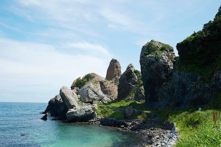 saga: Tachigami rock, Japanese tourist spot