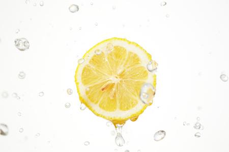 the lemon with water splash