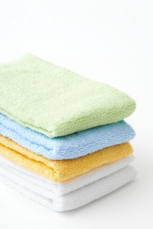 white towel: towel on white background