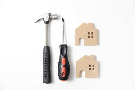 industry architecture: house repair Stock Photo