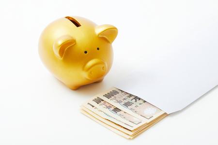 yen note: saving the money Stock Photo