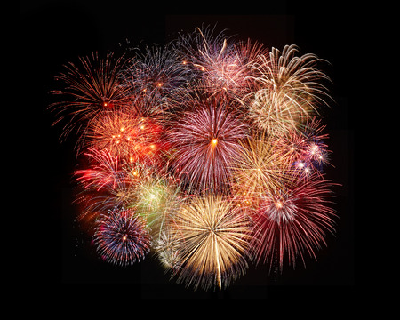 the fireworks in the night skythe fireworks in the night sky Imagens