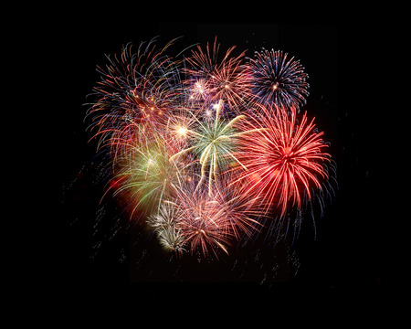pyrotechnics: the fireworks in the night sky