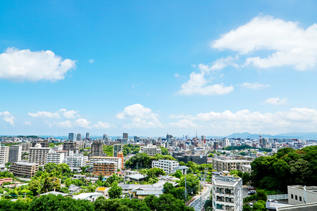landscape of Fukuoka city Stockfoto