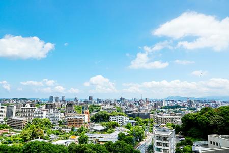 landschap van de stad Fukuoka