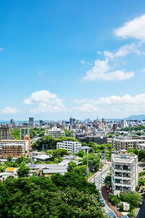 landscape of Fukuoka city 免版税图像