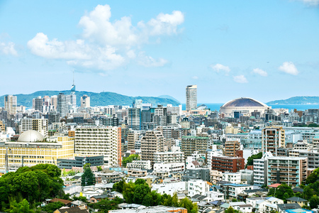 landscape of Fukuoka city Stock Photo