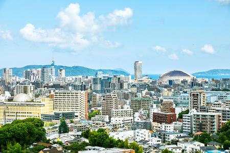 landscape of Fukuoka city Archivio Fotografico