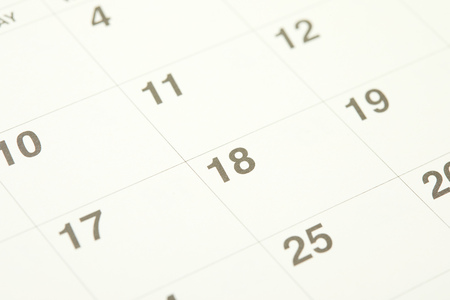 close up of the calendar