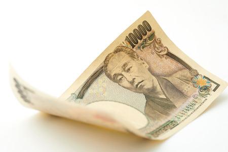 japanese 10000 yen on white