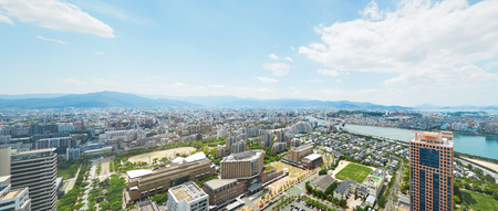 landscape of Fukuoka city Zdjęcie Seryjne